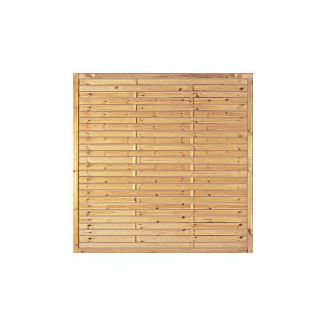 Lamellenzaun 1,80 x 1,80 m Rahmen 20/45